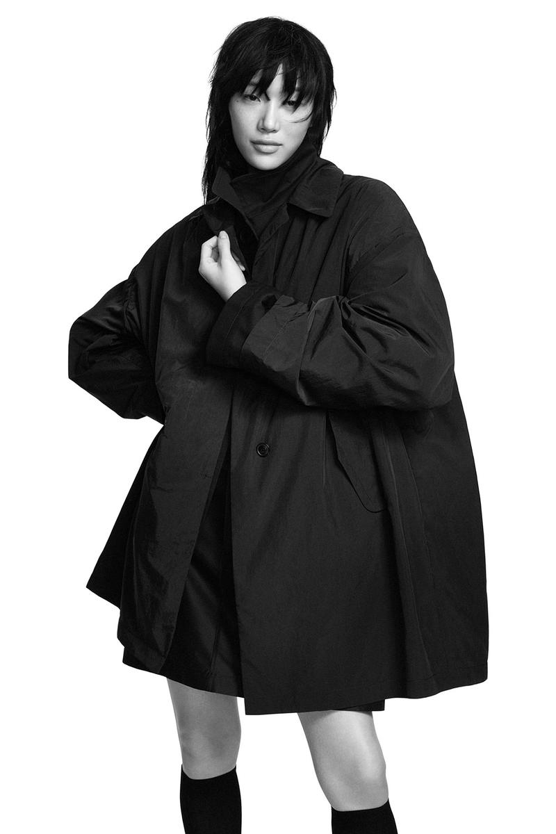 jil sander uniqlo plus j spring summer ss21 collaboration collection rain jacket coat sora choi