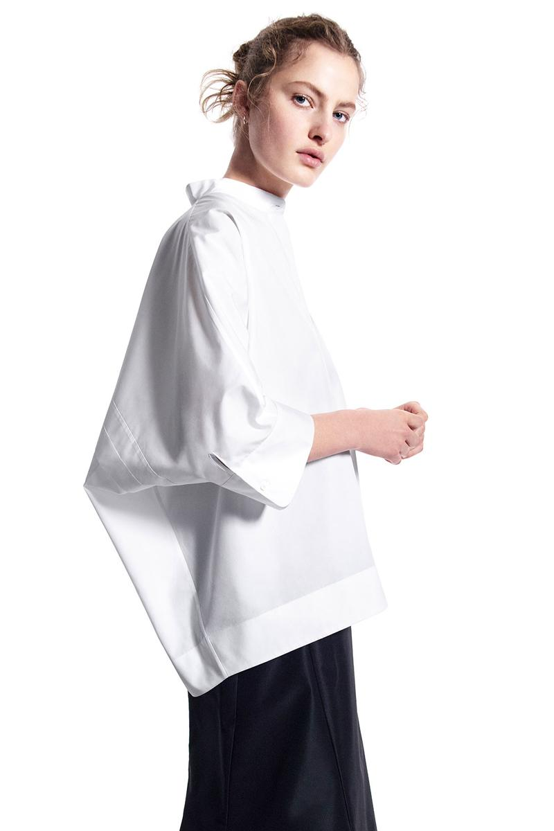 jil sander uniqlo plus j spring summer ss21 collaboration collection white shirt
