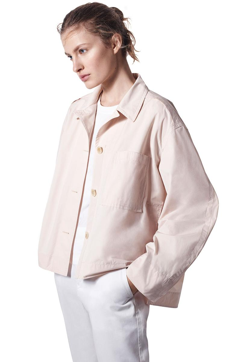 jil sander uniqlo plus j spring summer ss21 collaboration collection pastel beige shirt