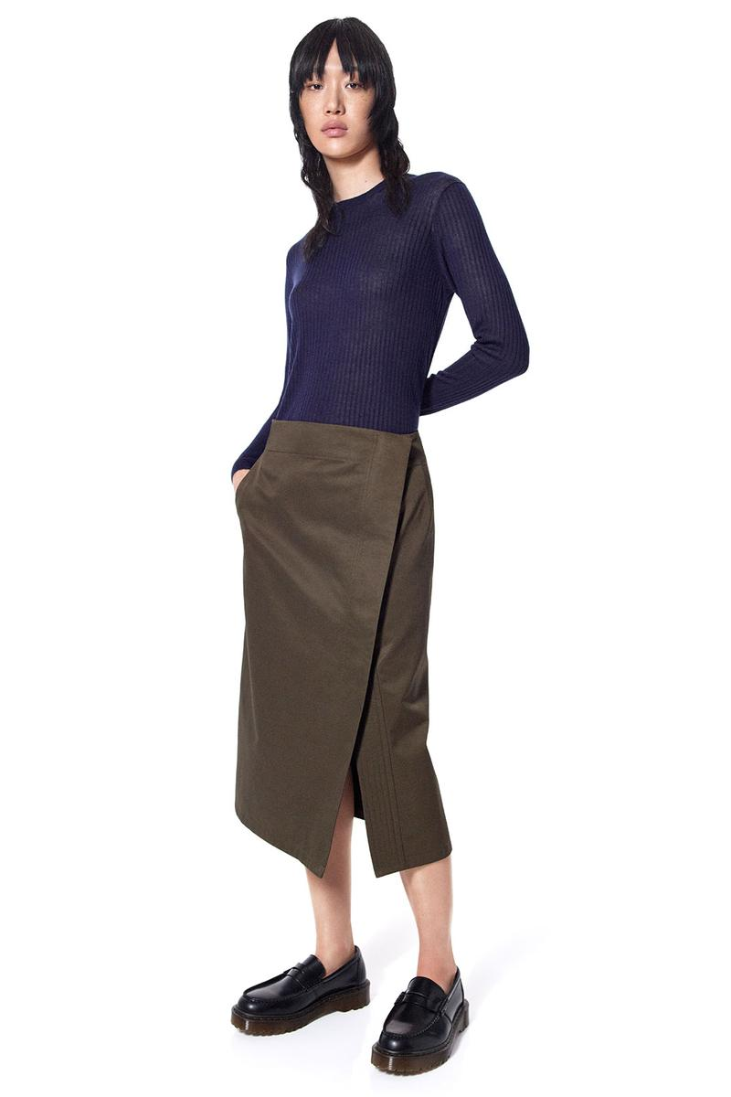 jil sander uniqlo plus j spring summer ss21 collaboration collection ribbed knit top skirt