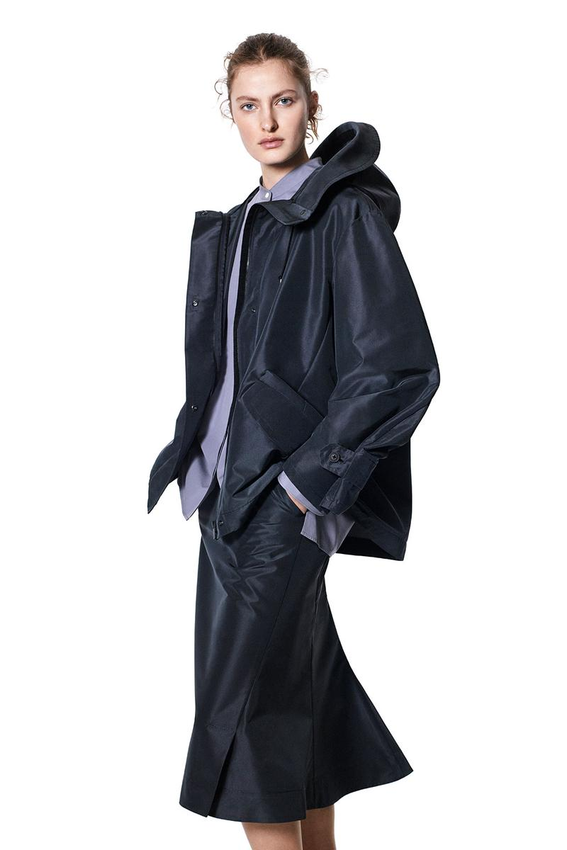 jil sander uniqlo plus j spring summer ss21 collaboration collection rain jacket outerwear skirt