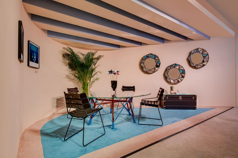 louis vuitton hong kong objets nomades exhibition collectibles chair table interior