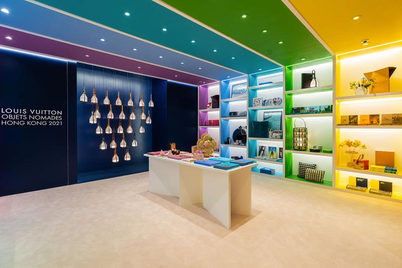 louis vuitton hong kong objets nomades exhibition collectibles lamps display