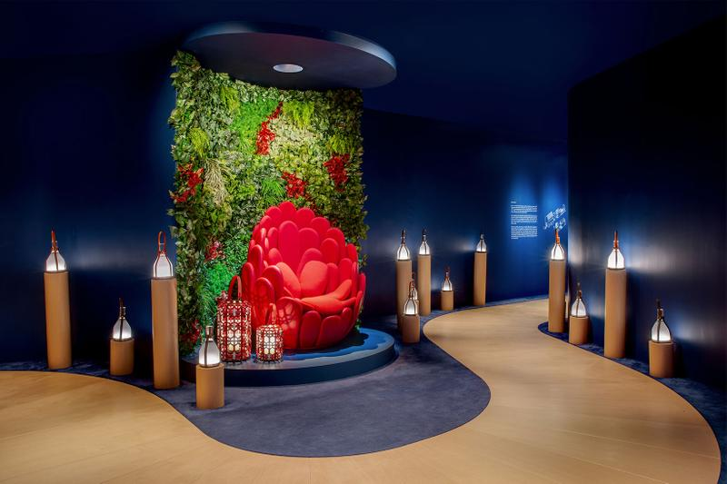 louis vuitton hong kong objets nomades exhibition collectibles entrance red chair