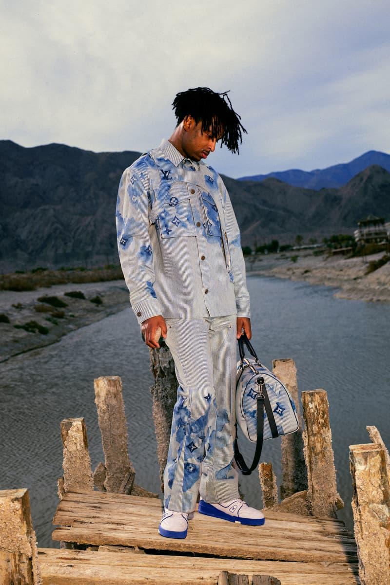 Louis Vuitton Summer 2021 Menswear Capsule Collection Virgil Abloh 21 Savage Watercolor Monogram Print