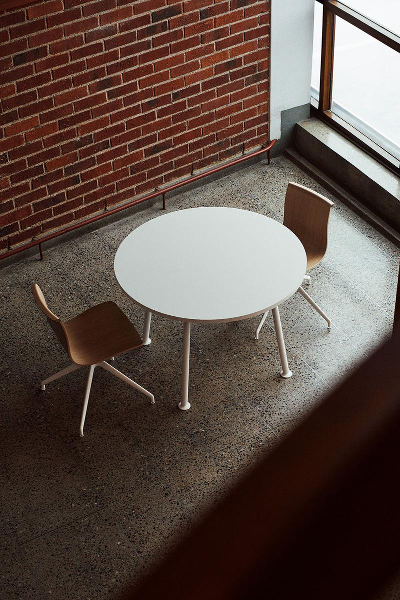 massproductions home design chairs serif shell round table wood