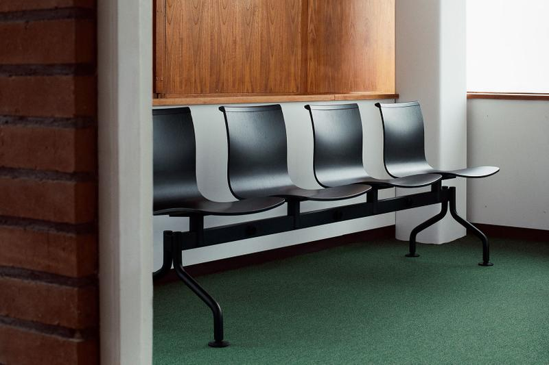 massproductions home design chairs serif shell bench black