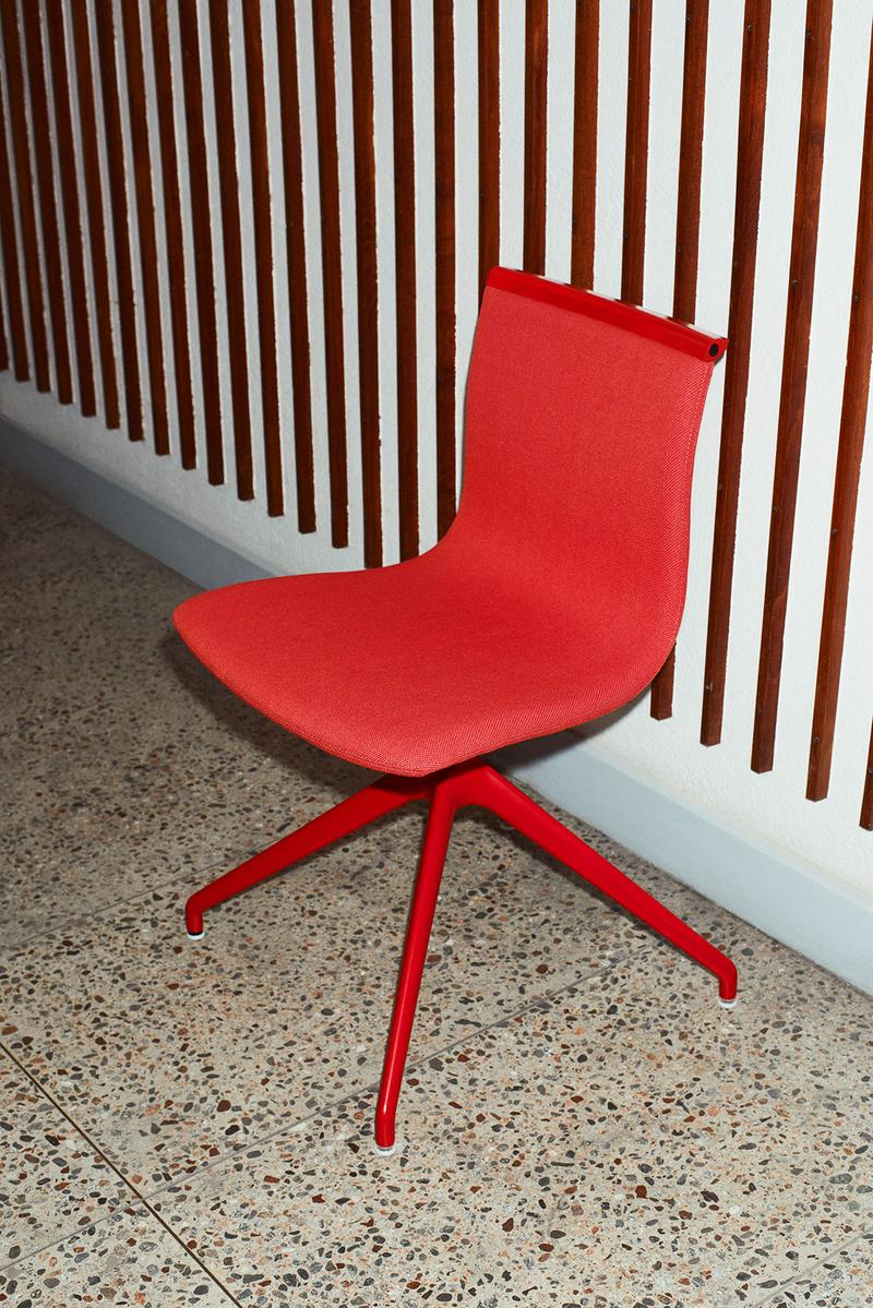 massproductions home design chairs serif shell red