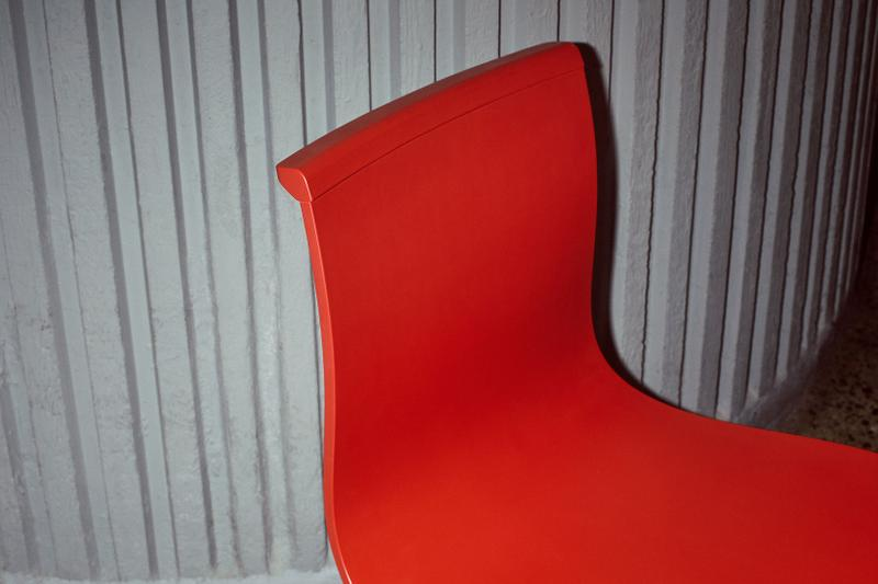 massproductions home design chairs serif shell red details back
