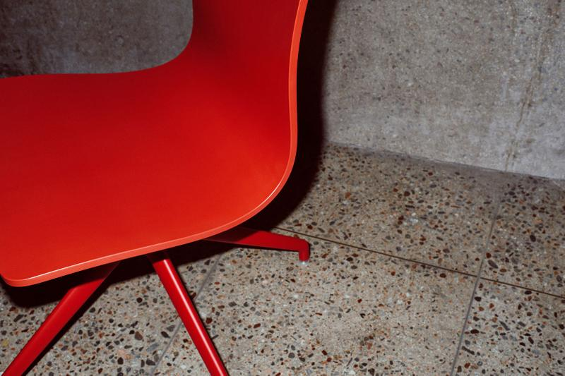 massproductions home design chairs serif shell red details bottom legs