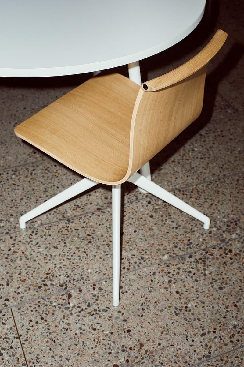 massproductions home design chairs serif shell oak wood white legs desk