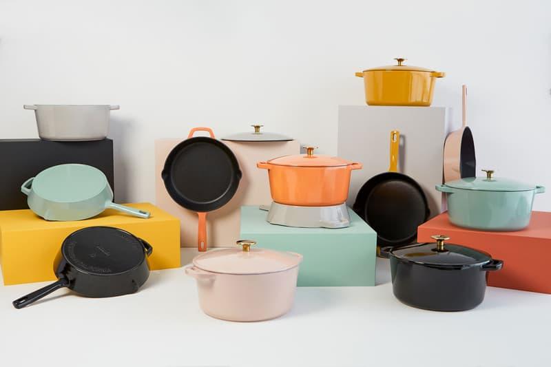 milo cookware kitchen cast iron pants pots new colorways blue orange pink black white gray