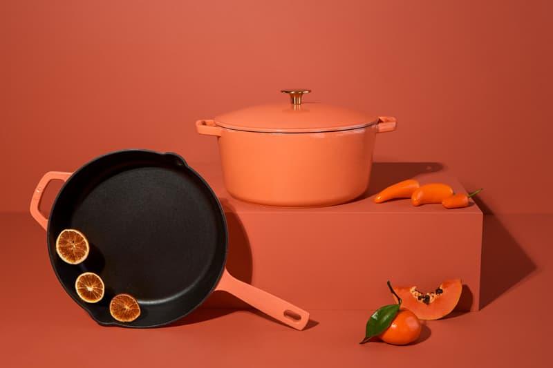 milo cookware kitchen cast iron pants pots new colorways red orange