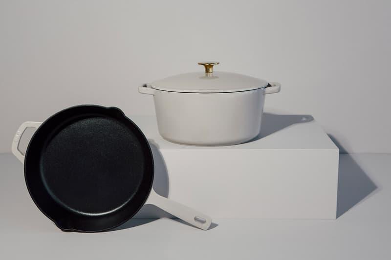 milo cookware kitchen cast iron pants pots new colorways white