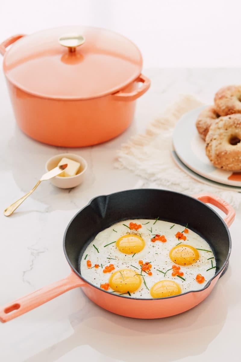 milo cookware kitchen cast iron pants pots new colorways egga orange