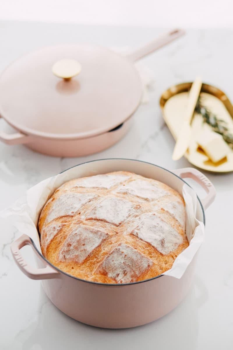 milo cookware kitchen cast iron pants pots new colorways bread pastel pink