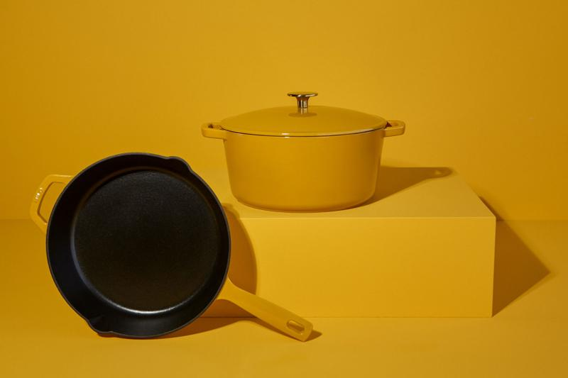 milo cookware kitchen cast iron pants pots new colorways mustard yellow
