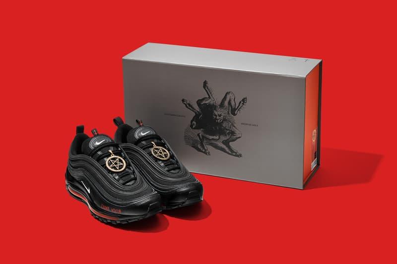 mschf lil nas x nike air max 97 am97 satan shoes sneakers human blood ink box packaging