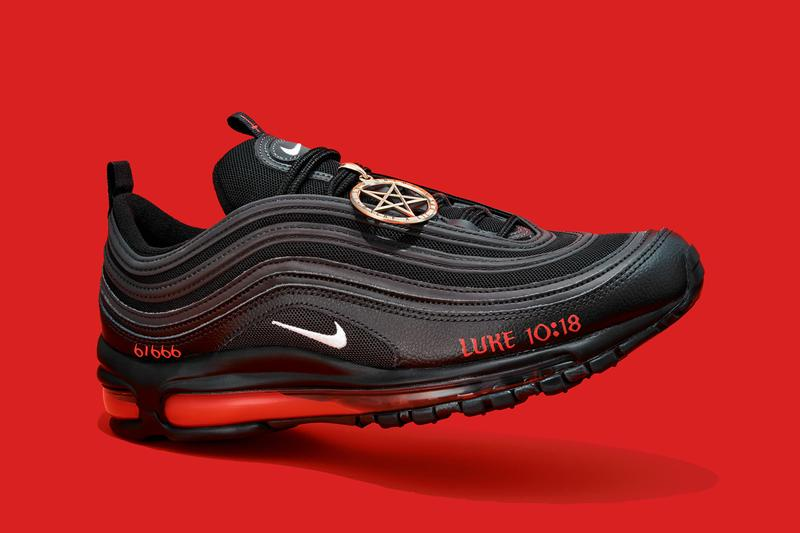 mschf lil nas x nike air max 97 am97 satan shoes sneakers human blood ink details laterals