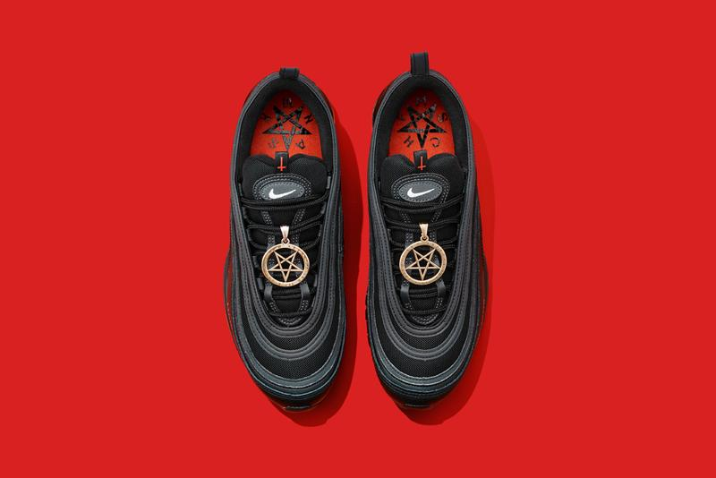 mschf lil nas x nike air max 97 am97 satan shoes sneakers human blood ink top view laces