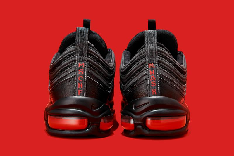 mschf lil nas x nike air max 97 am97 satan shoes sneakers human blood ink back heel sole