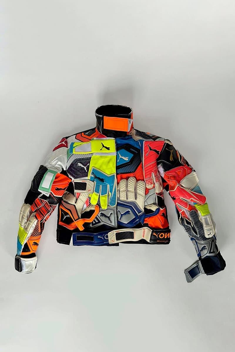 nicole mclaughlin puma collaboration partnership upcycled puma goalkeeper gloves jacket details full look