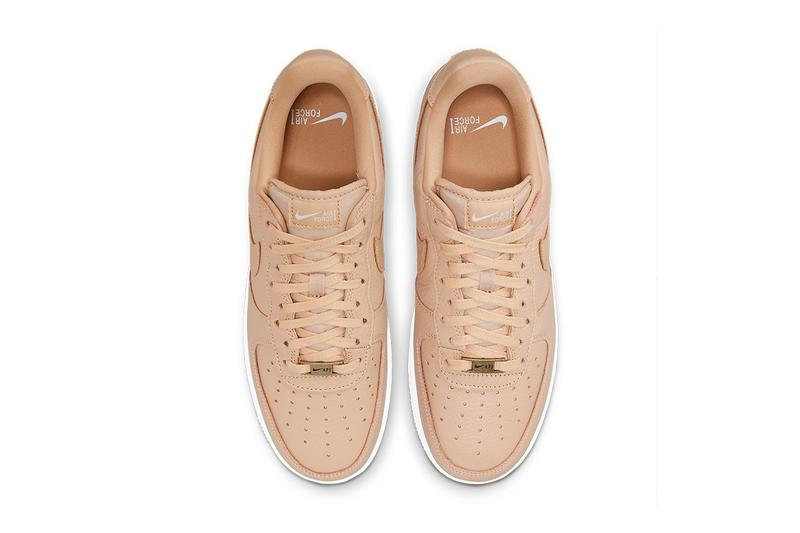 nike air force 1 af1 craft bucket tan beige leather white top upper shoelaces