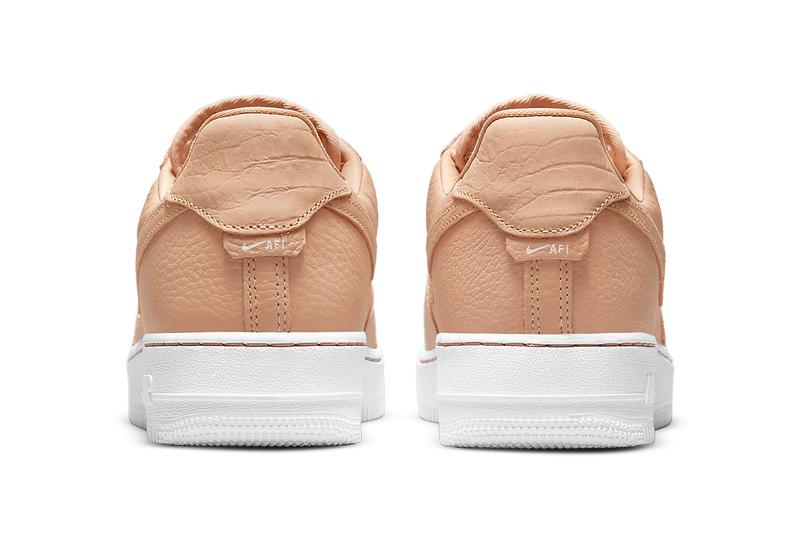 nike air force 1 af1 craft bucket tan beige leather white back heel