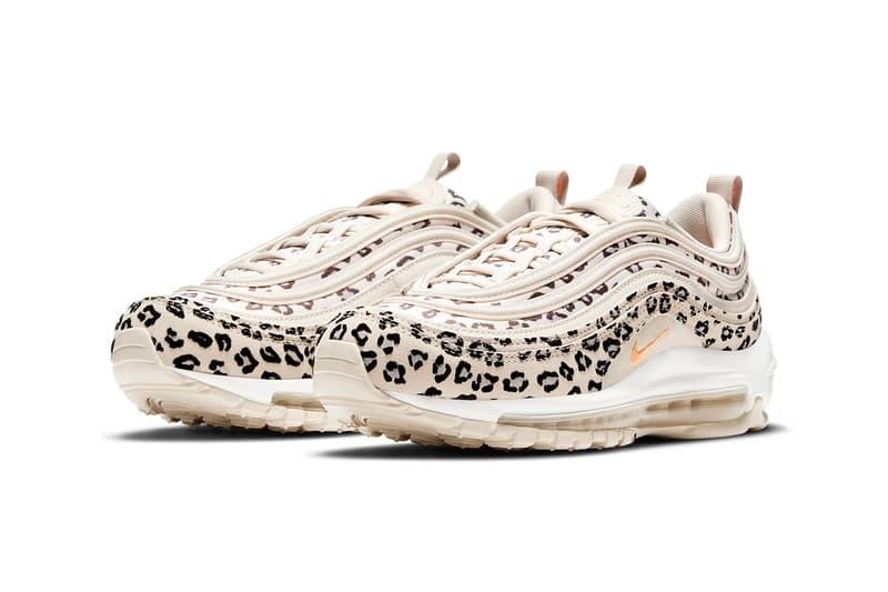 nike air max 97 am97 se womens sneakers cheetah print beige white orange colorway kicks footwear shoes sneakerhead lateral