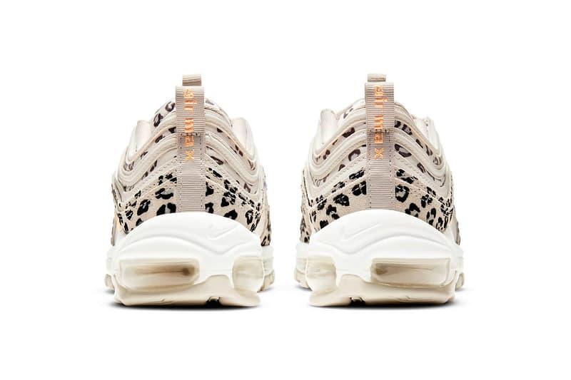 nike air max 97 am97 se womens sneakers cheetah print beige white orange colorway kicks footwear shoes sneakerhead heel