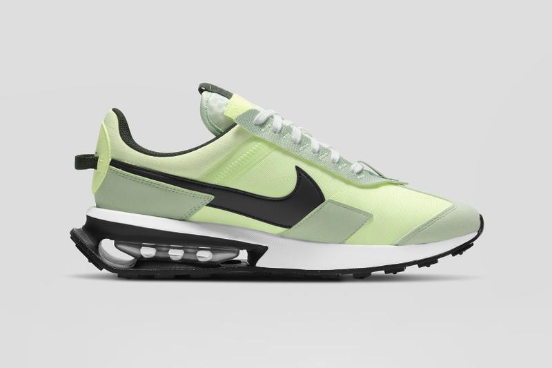 nike air max pre-day volt green black white laterals details