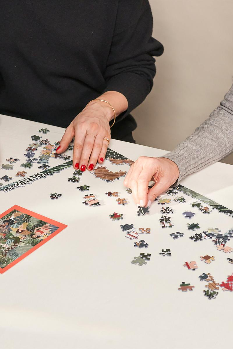 ordinary habit 1000 piece puzzle collection female illustrators art