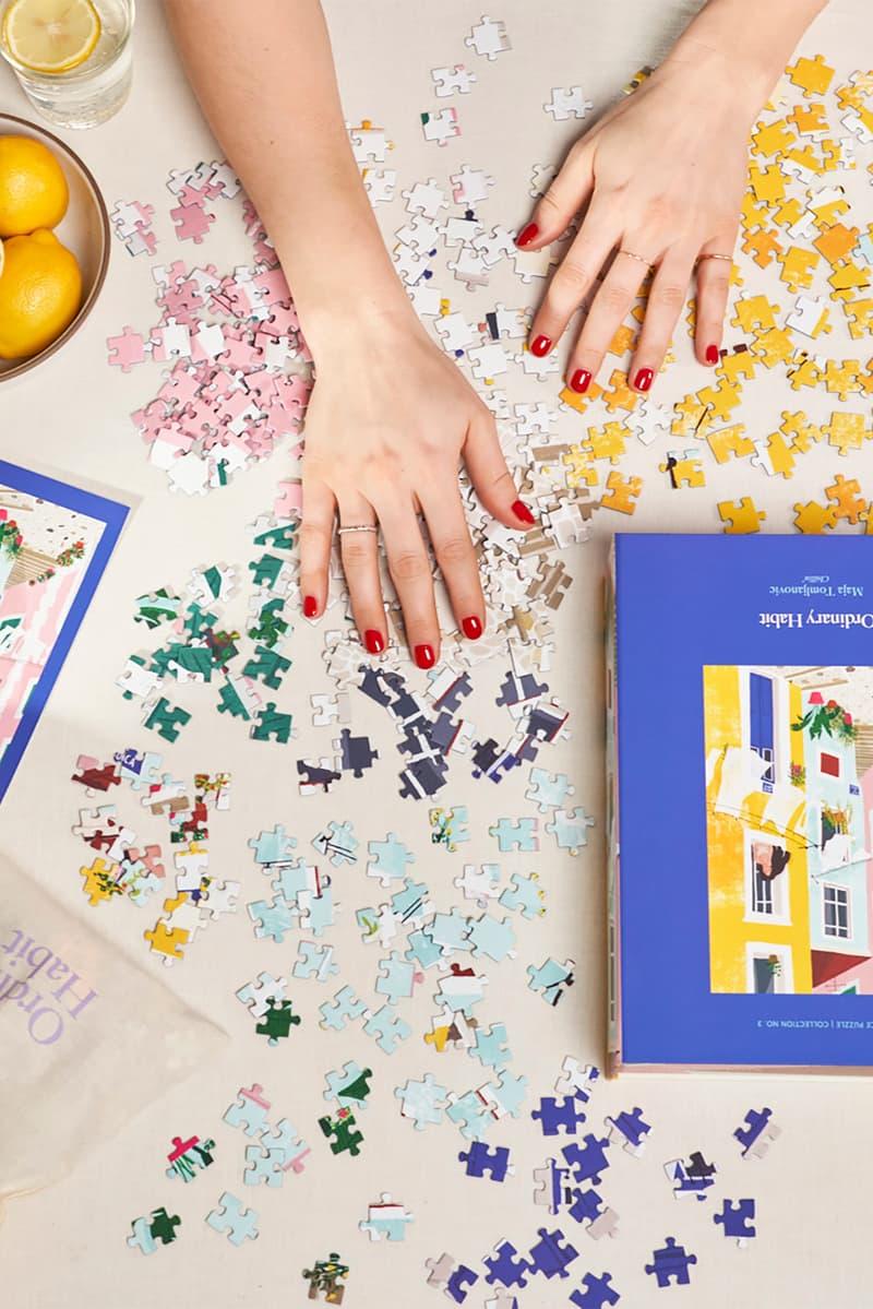 ordinary habit 1000 piece puzzle collection female illustrators art Chillin' by Maja Tomljanovic