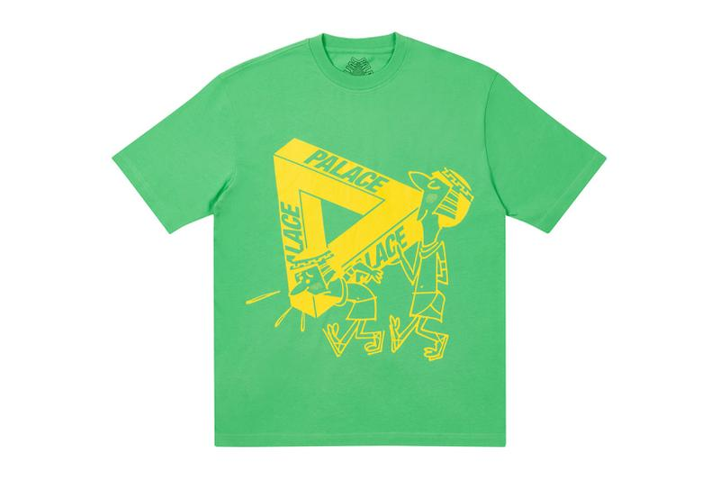 palace spring drop 4 collection graphic tshirt illustrations green yellow