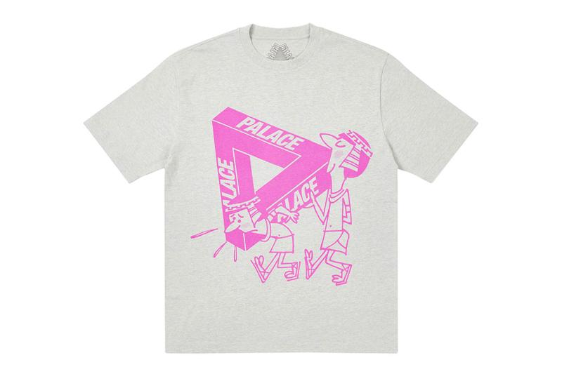 palace spring drop 4 collection graphic tshirt illustrations pink gray