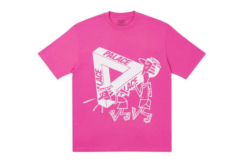 palace spring drop 4 collection graphic tshirt illustrations white pink