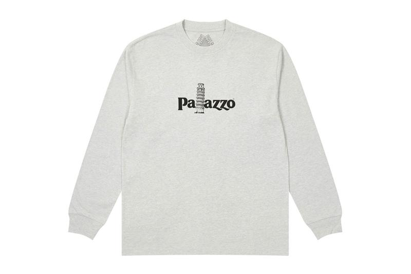palace spring drop 4 collection sweatshirt palazzo leaning tower of pisa gray