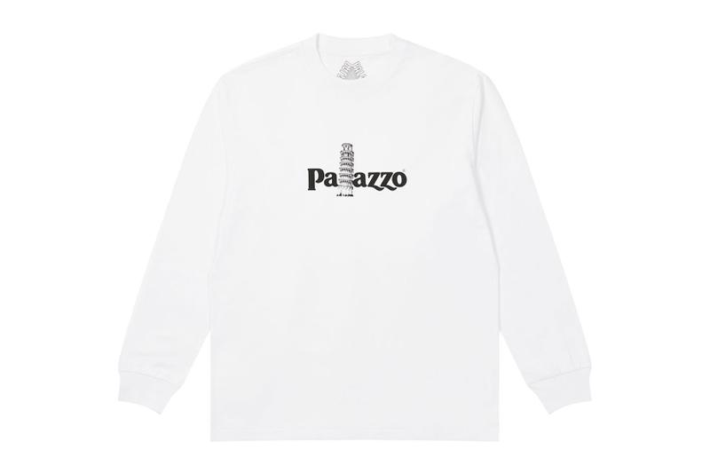 palace spring drop 4 collection sweatshirt palazzo leaning tower of pisa white