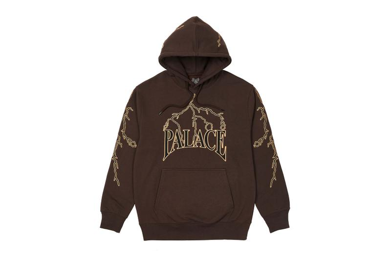 palace spring drop 4 collection hoodie lightning