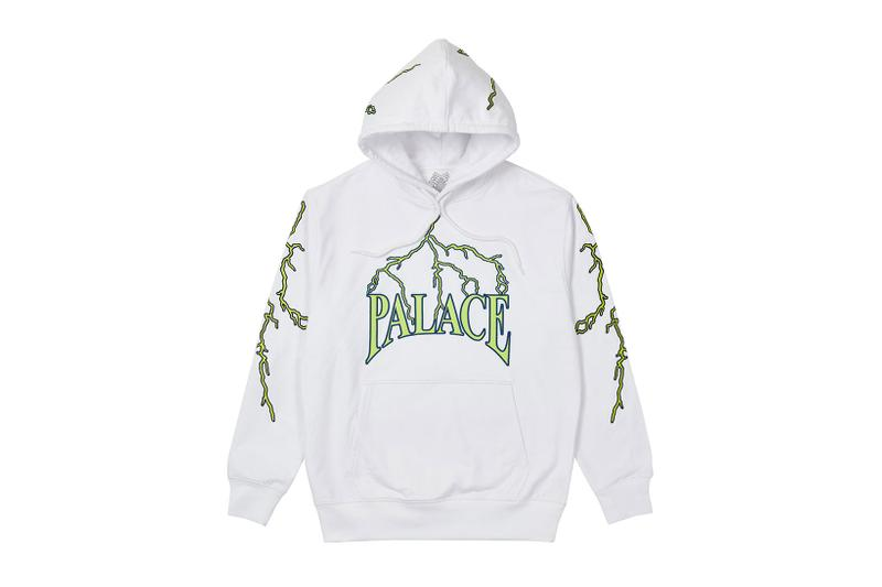 palace spring drop 4 collection hoodie lightning gray