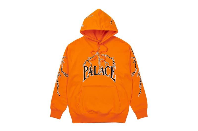 palace spring drop 4 collection hoodie lightning orange