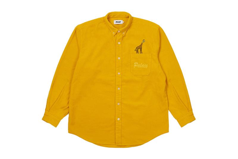 palace spring drop 4 collection logo shirt yellow mustard