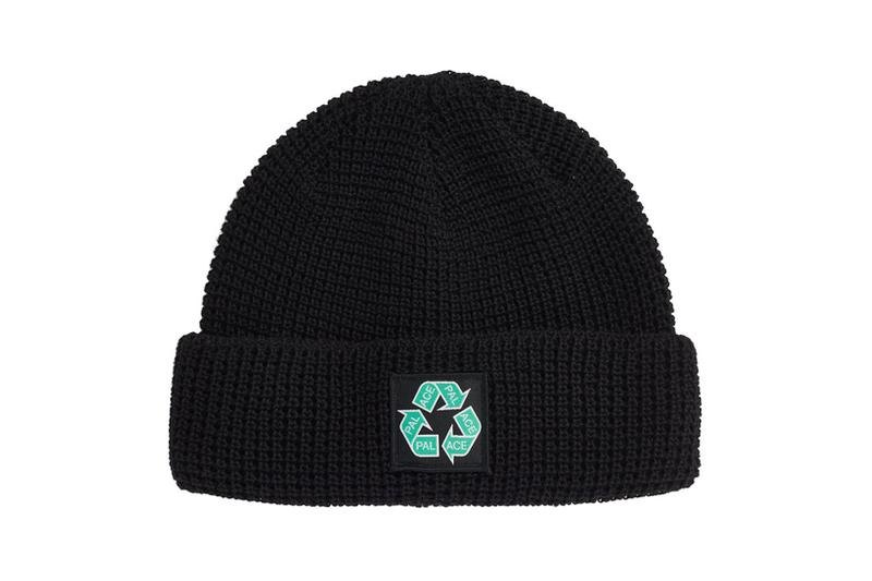 palace spring drop 4 collection logo beanie hat recycle
