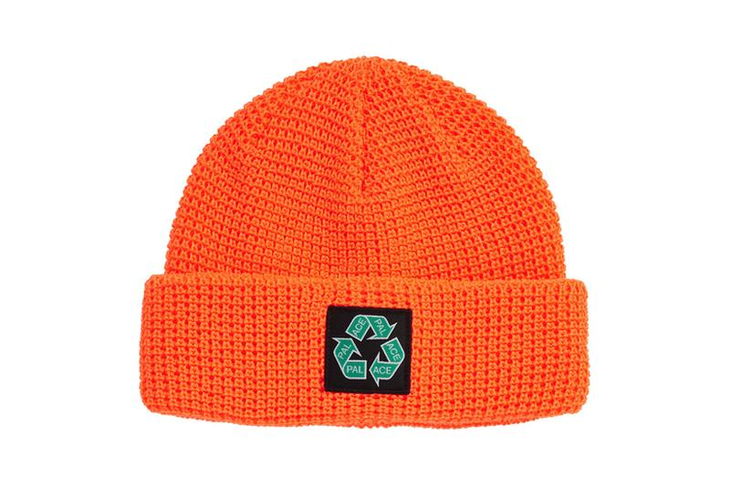 palace spring drop 4 collection logo beanie hat recycle orange