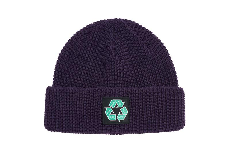 palace spring drop 4 collection logo beanie hat recycle black
