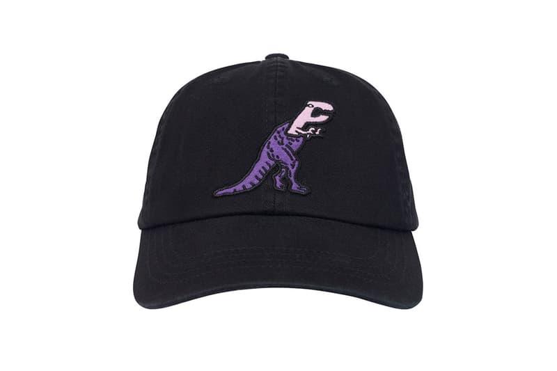 palace spring drop 4 collection logo cap hat graphic dinosaur
