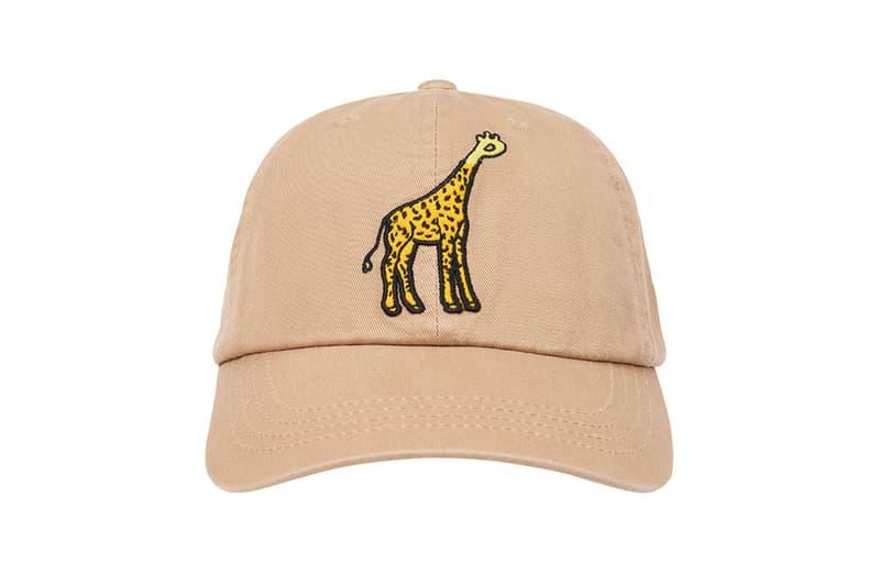 palace spring drop 4 collection logo cap hat graphic giraffe