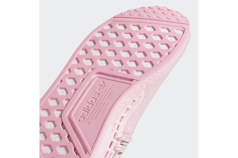 pharrell williams adidas originals hu nmd collaboration pink sneakers footwear shoes kicks sneakerhead heel