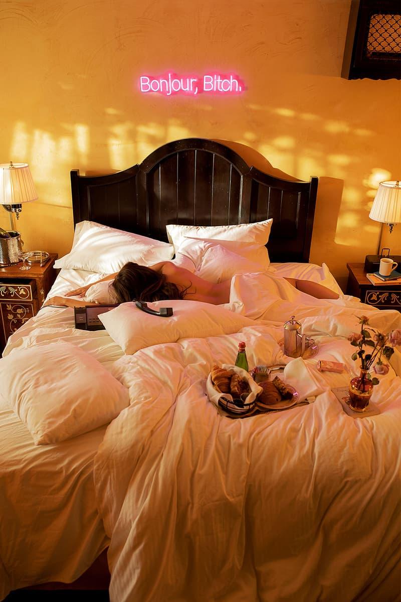 sarah bahbah home decor limited edition neon lights bonjour bitch bedroom