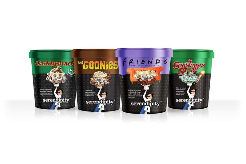 serendipity friends ice cream central perk almond fudge flavor warner bros collaboration dessert goonies cady shack a christmas story